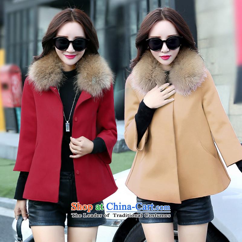Lin Carlyleautumn 2015 new Korean cloak shawlLM6770red jacket? grossL