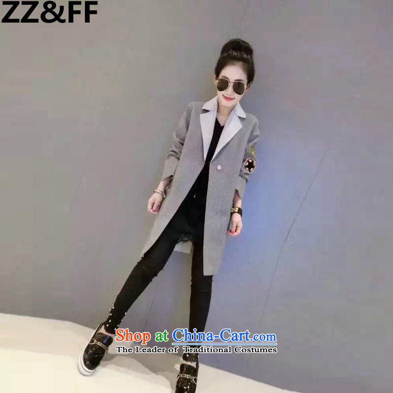 The new 2015 Zz_ff autumn and winter extra-thick mm200 women to increase the burden of leisure suit for gross? a jacket coat gray?XXXXXL_ Tsing recommendations 180-200 catties_