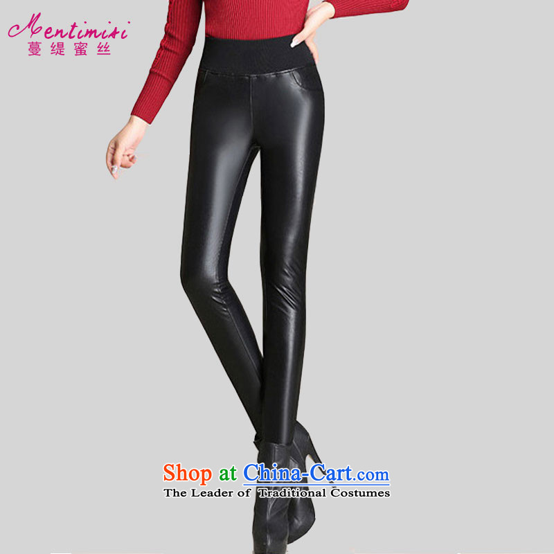 Overgrown Tomb economy honey population by 2015 to increase the number of women with little trousers winter clothing new stylish wild plus extra thick wool pants pu leather pants pencil trousers�12燘lack�L paragraphs 165-175 under the burden of recomm