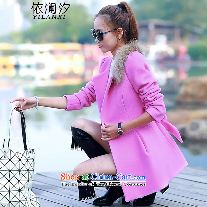 In accordance with the world gross Hsichih girls jacket? Long Fall/Winter Collections new Korean Sau San Video Foutune of a thin clothes? 9523 gross coats pink M