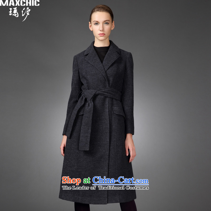 2015 winter Princess Hsichih maxchic collars in long strap wild jacket wool coat female totaling 22,142 carbon?燤