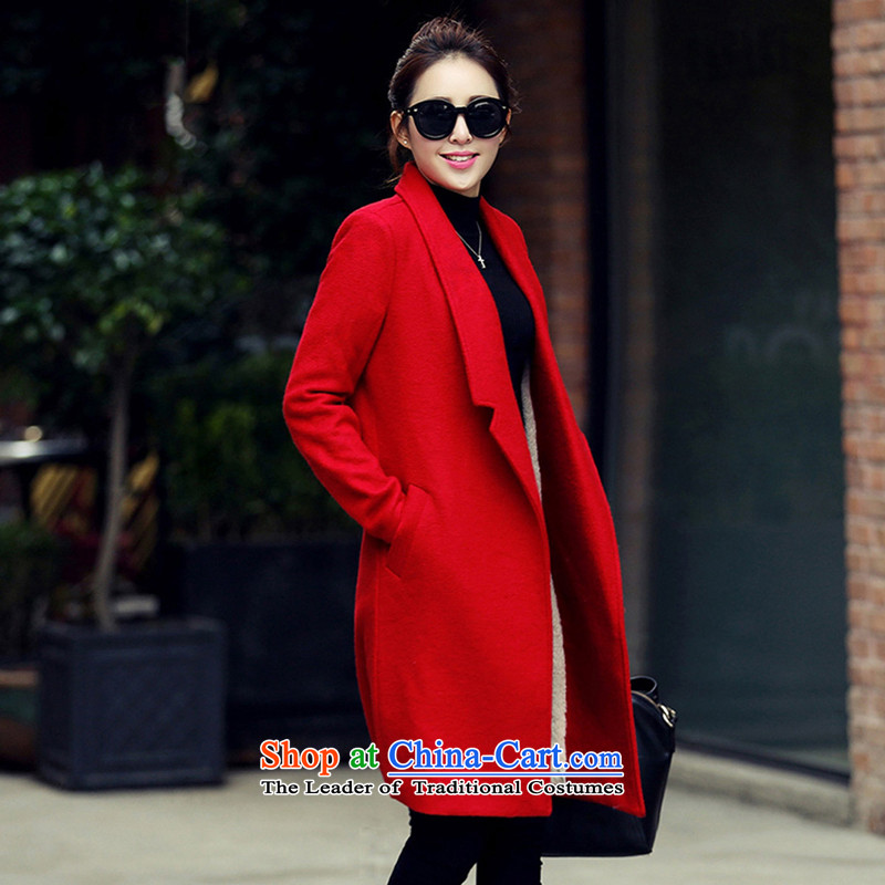 Statements were made by Lau long double-sided, temperament thick hair? coats SA RED聽L