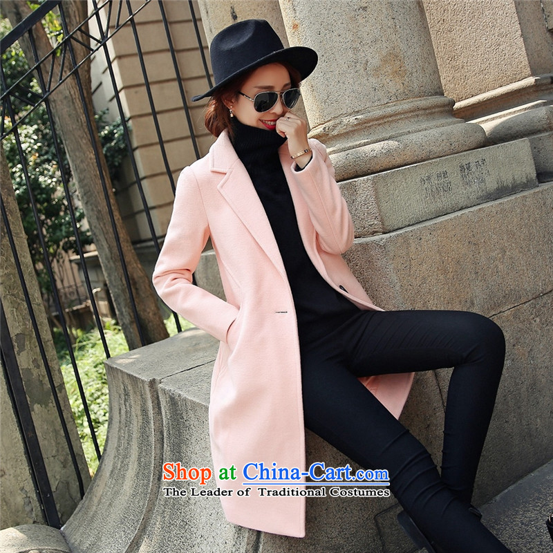 Statements were made by Lau autumn and winter new stylish gross in long wind? jacket SA and Color聽M