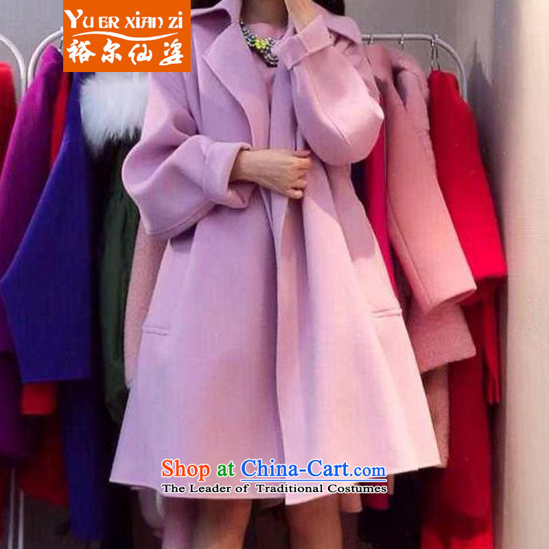 Yu-Sin-thick sister to increase women's code 2015 autumn and winter new gross? mm thick Korean jacket video thin aristocratic Connie sub-coats 1395 color picture�L�0-200 recommends that you Jin