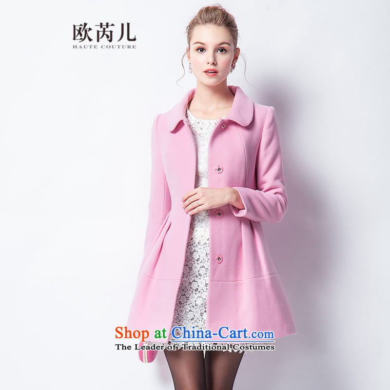 The Secretary for Health-care 2015 Ms. OSCE winter new pure color long-sleeved Washable Wool Doll Foutune of a gross? 10238 Sau San jacket in red S