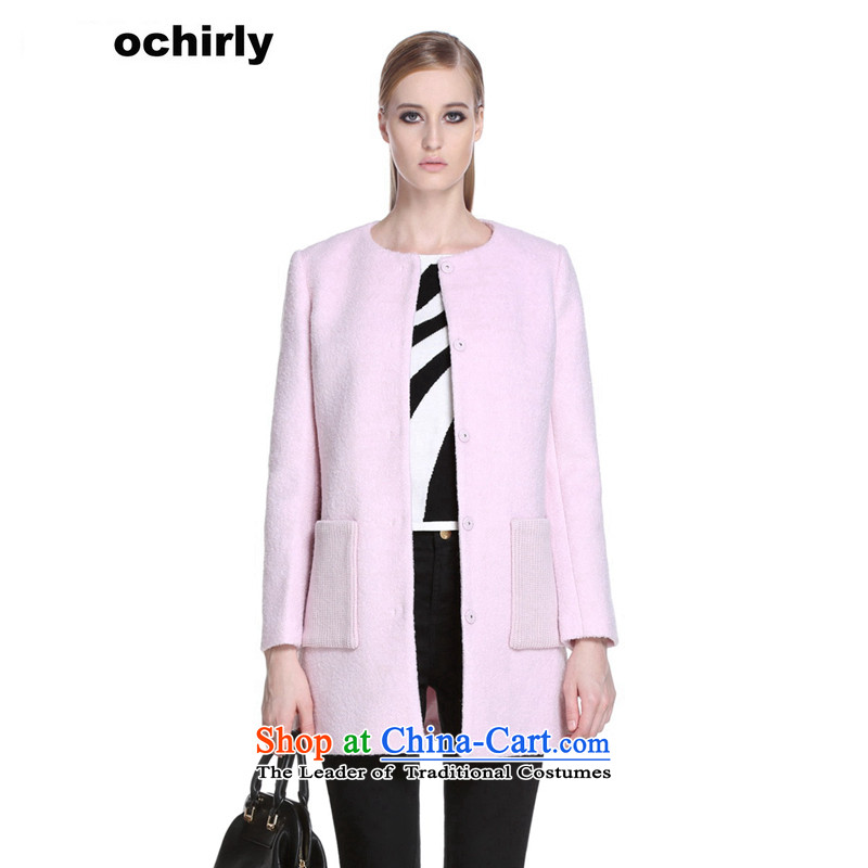 The new Europe, ochirly female stylish stitching in long loose Washable Wool Sweater 1143346050? pink Xs_155_80a_ 180