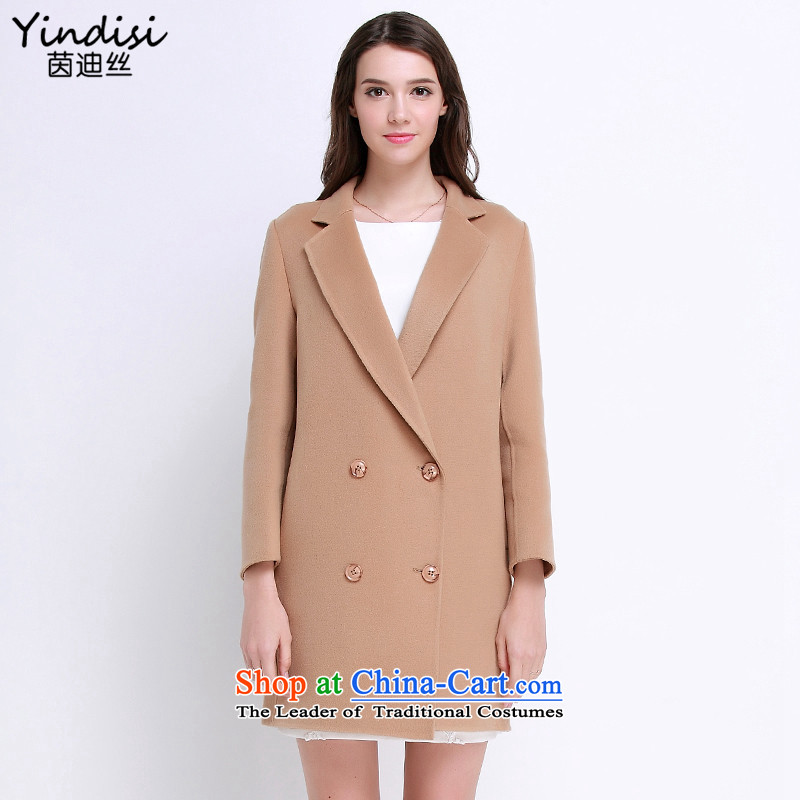 Athena Chu countryman2015 autumn and winter, hand-double-side wool coat in the long hair? coats female khakiM