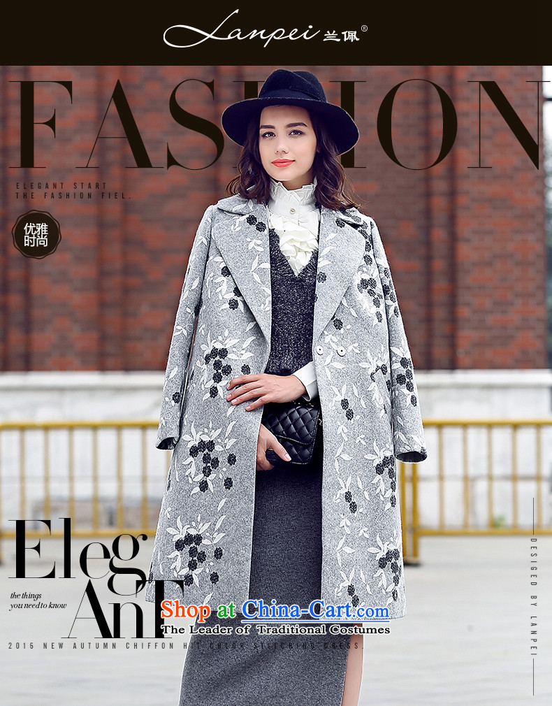 Ho Pui 2015 autumn and winter new woolen suit a wool coat embroidered for Sau San Mao jacket girl in long?) Gray聽L picture, prices, brand platters! The elections are supplied in the national character of distribution, so action, buy now enjoy more preferential! As soon as possible.