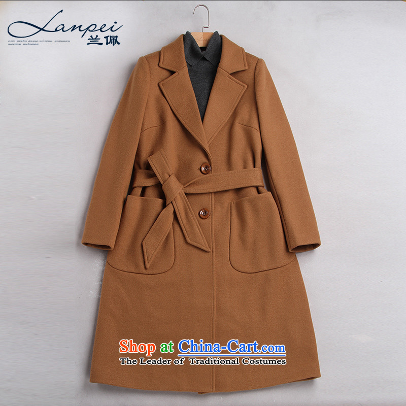 Ho Pui聽2015 autumn and winter new Foutune of video thin wool a wool coat girl in long suit for gross jacket and Color聽M?