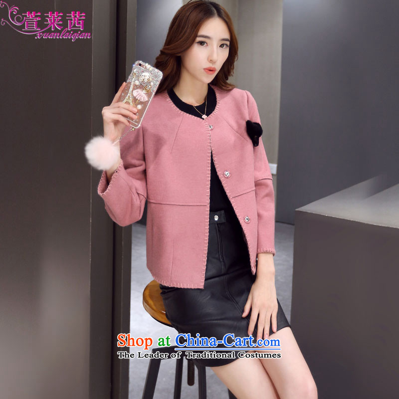 Xuan, Mrs Ure�15 autumn and winter new short of Sau San Mao jacket lady? Small Wind wool coat is Heung-pink燲XL