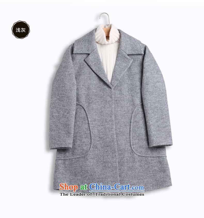 Ho Pui聽2015 autumn and winter new suit washable wool a wool coat female type cocoon Sau San Mao jacket, long)? gray聽M picture, prices, brand platters! The elections are supplied in the national character of distribution, so action, buy now enjoy more preferential! As soon as possible.