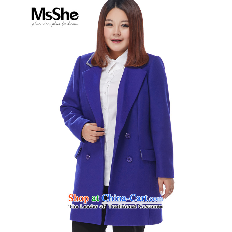 The Ventricular Hypertrophy code msshe women 2015 new winter clothing knocked lapel color coats thick MM Gross? jacket thickness 11 132 Blue�L