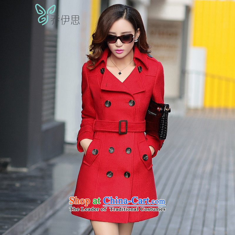 The League of Joe 2015 autumn and winter, Stylish coat? gross Ms. Han wool coat is version _ _ The girl W542098 jacket red燣