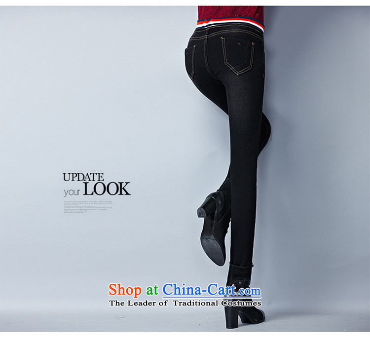 The officials of the fuseau larger ladies pants autumn and winter to xl jeans thick mm thick elastic waist-plus pant black XXXL picture, prices, brand platters! The elections are supplied in the national character of distribution, so action, buy now enjoy more preferential! As soon as possible.