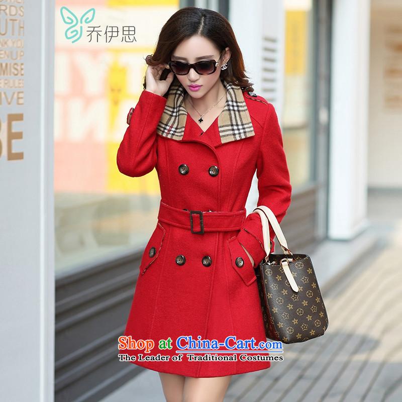 The League of Joe 2015 Ms. new gross? coats, double-Tether Sau San Foutune of medium to long term gross jacket coat female W542095? red燣