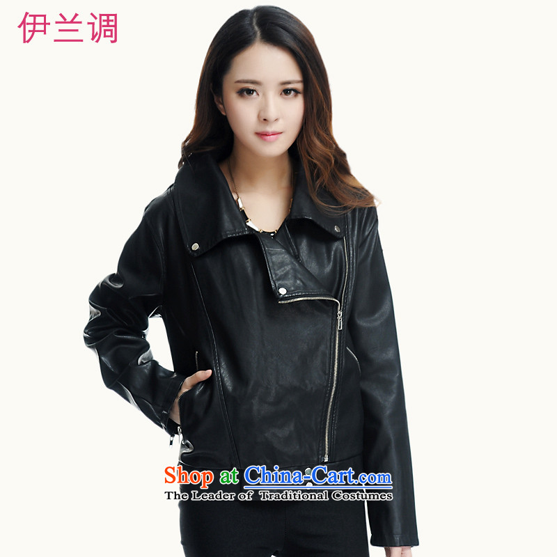 Gilland adjustable to xl female PU Leather Jackets mm thick Korean thick sister winter 2015 New 2198 Black聽XXXXXL Sau San