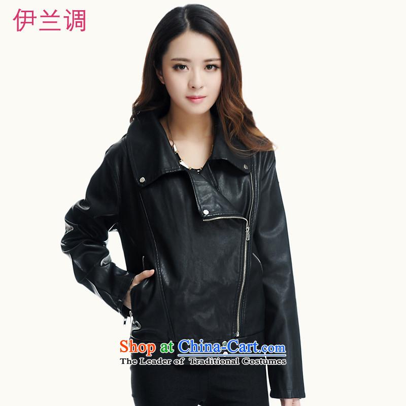 Gilland adjustable to xl female PU Leather Jackets mm thick Korean thick sister winter 2015 New 2198 Black聽XXXXXL Sau San