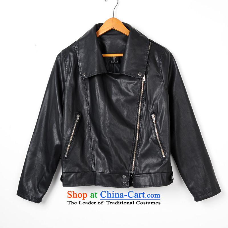 Gilland adjustable to xl female PU Leather Jackets mm thick Korean thick sister winter 2015 New 2198 Black聽XXXXXL, Sau San jiran adjustable shopping on the Internet has been pressed.