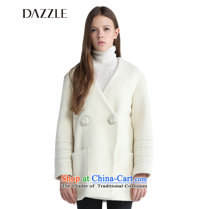 The DAZZLE in winter, the palace of the wind-long-sleeved straight to the ribs?244G247?beige?155XS Coats