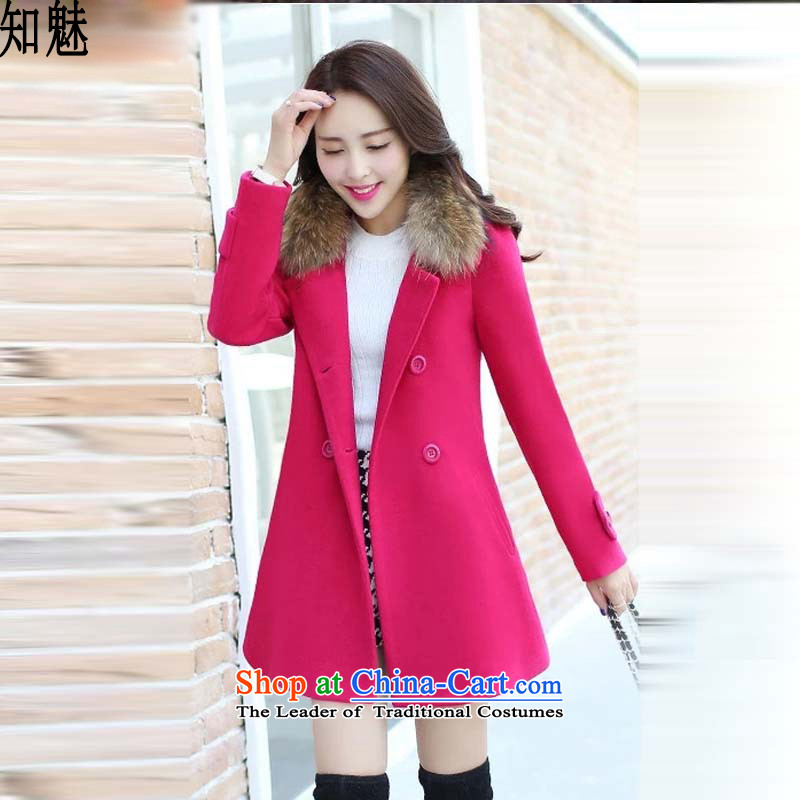 Aware of the gross? 2015 winter coats girl in new long-Nagymaros collar thin hair? jacket graphics 9833 women in RED M