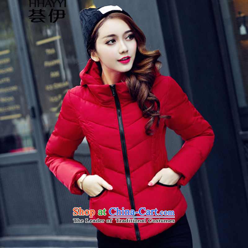 Aloe vera, cotton short of female 2015 winter clothing new thin, Sau San for winter coats of small padded coats short women's cotton coat HY1259 large red�L