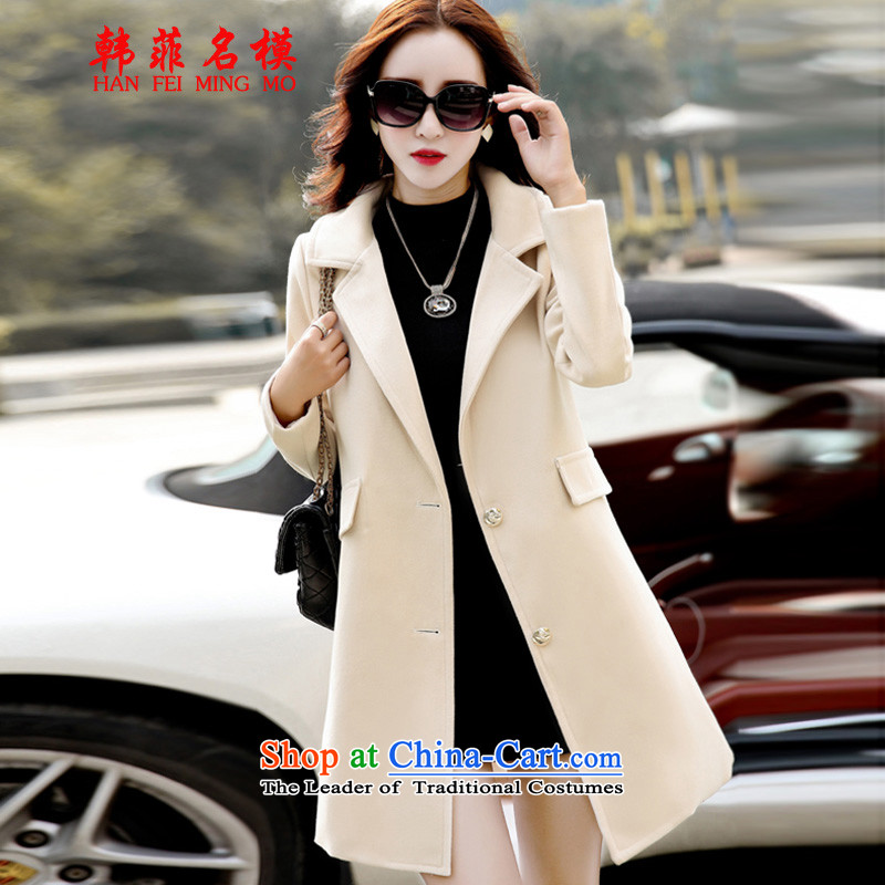 Korea, name the template gross? autumn and winter, female COAT 2015 Autumn for women Korean female coats of Sau San Mao?� 601爉 White燲L