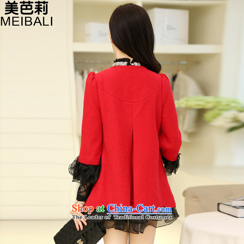 The United States and Li 2015 autumn and winter new embroidery lace cloak shawl gross short?)? 2368 red聽, L, American jacket and Li , , , shopping on the Internet
