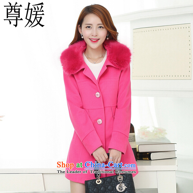Extreme yuan by 2015 a wool coat Korean autumn and winter new gross? a jacket for girls in long-Nagymaros for women 5832 better XXXL red