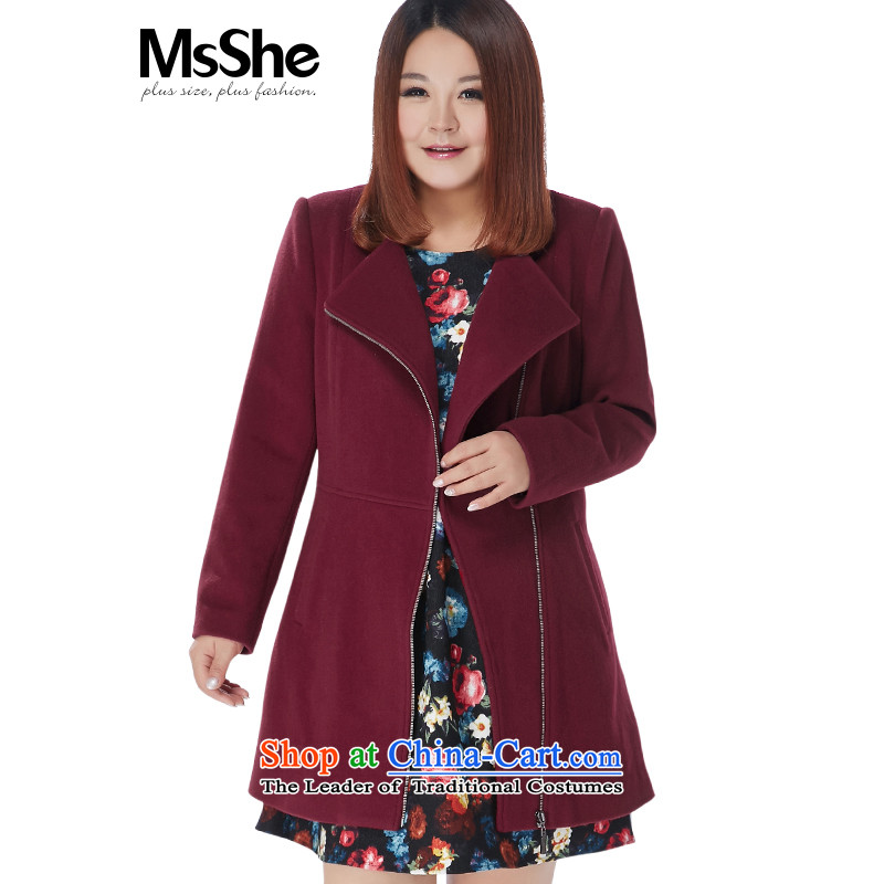 The Ventricular Hypertrophy code msshe women 2015 new winter wind the zip lapel long-sleeved gross? coats thick red wine 5XL Build 10918