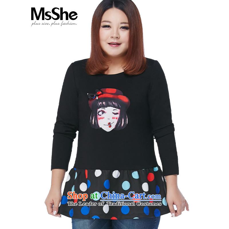 Msshe xl women 2015 new autumn and winter thick MM long skirt the Netherlands shirt 10405 Black�L Sau San