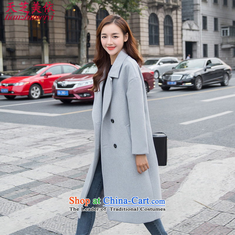 In accordance with the�15 days Ji-mi autumn and winter coats relaxd the western? unit in long Korean cocoon-thick wool coat�5 female爂ray?燣