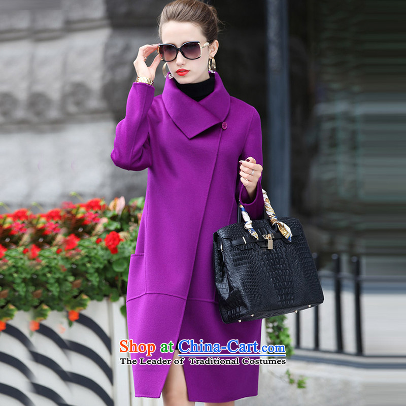 Morcar Connie snow� fall_winter coats of 2015 won in Sau San long version of this jacket female purple燲XL
