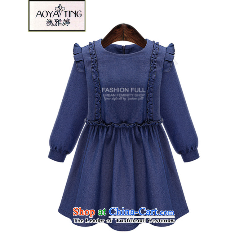 O Ya-ting to increase women's code 2015 autumn and winter, forming the new mm thick video thin stylish Western cowboy A field suits skirts 3838 Blue�L 145-165 recommends that you Jin