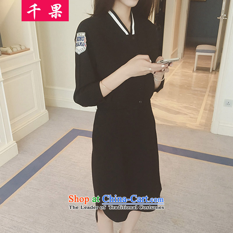 Thousands of fruit xl female thick mm autumn replacing Foutune of dresses�15 Graphics thin package thick sister and skirts and long_, forming the Netherlands 200 catties 128 long-sleeved black plus lint-free燲XL