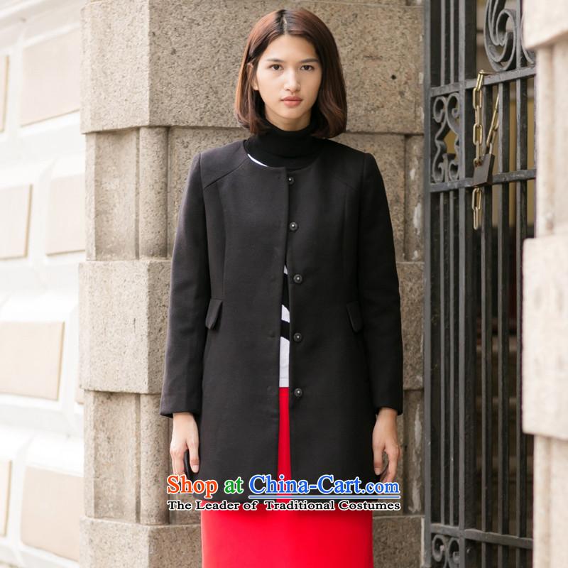 New stylish long winter of this jacket black燣