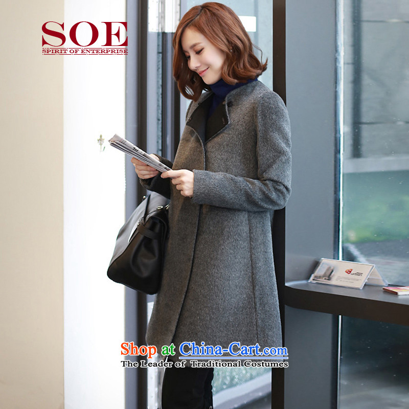 Soe?gross? for winter coats women 2015 new cloak large ol wool coat won a long version of the gray coat?M W6028