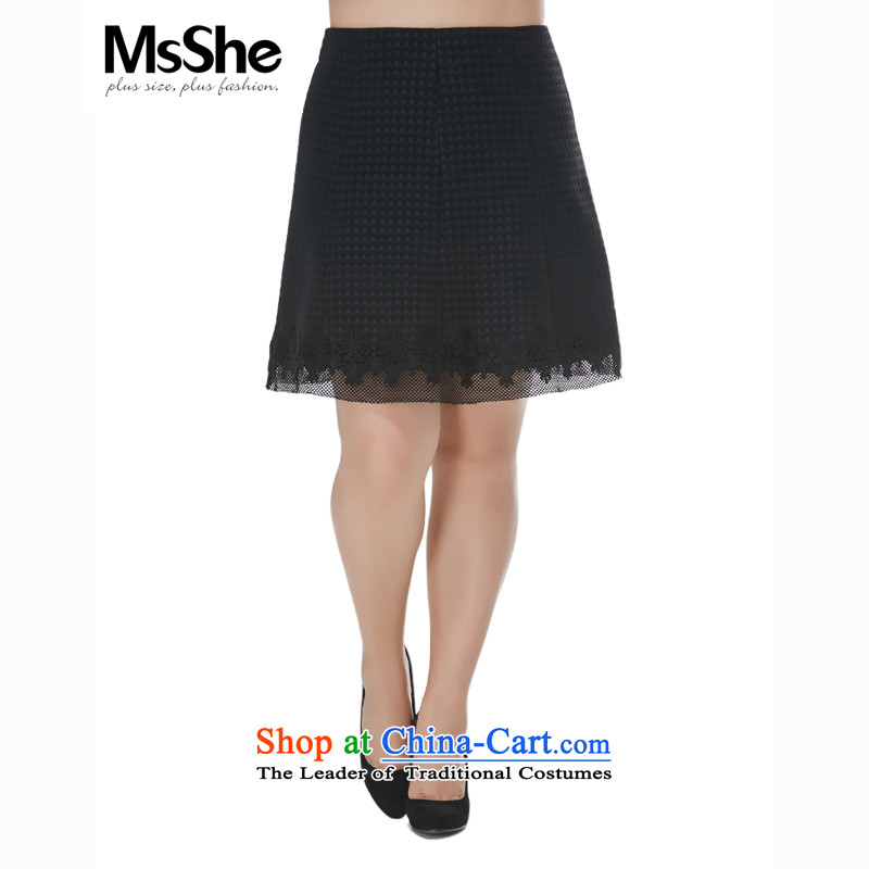 To increase the number msshe women 2015 new fall inside a word with thick black 10762 MM body skirt 6XL