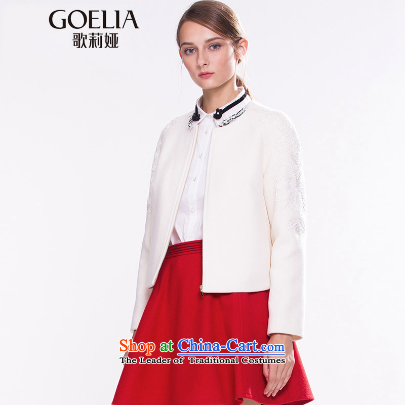 Song Leah GOELIA Women 2015 winter clothing new bypass justice pour embroidered inclusive? The jacket 15NE6E31A W03 m White M