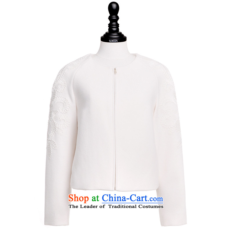 Song Leah GOELIA Women 2015 winter clothing new bypass justice pour embroidered inclusive? The jacket 15NE6E31A W03 m White M Song Leah GOELIA () , , , shopping on the Internet