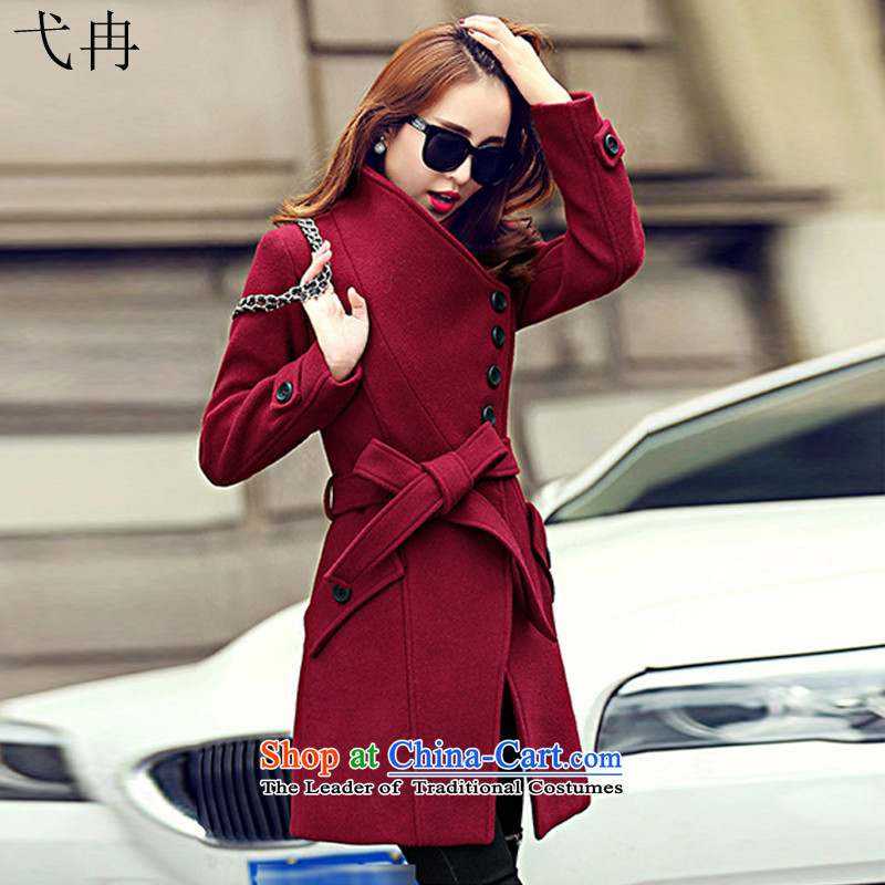 Cruise in the Advanced 2015 winter coats women? Boxed new women's autumn, Korean long thin video   Gross N603 female jacket coat? BOURDEAUX燲XL