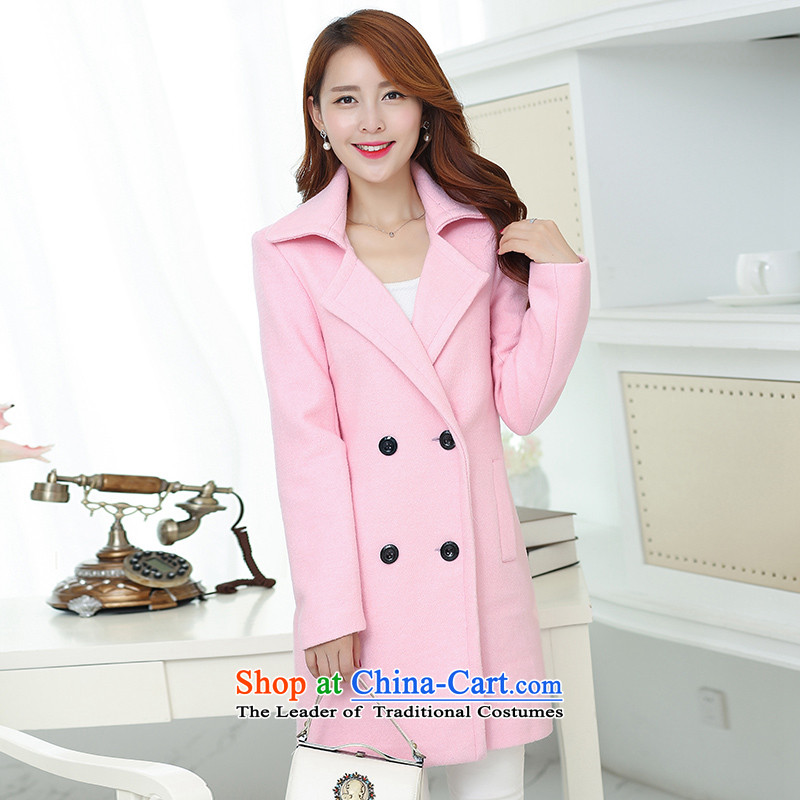 In the Hyatt autumn and winter in New Long Korean winter coats SA pink gross XXXL?