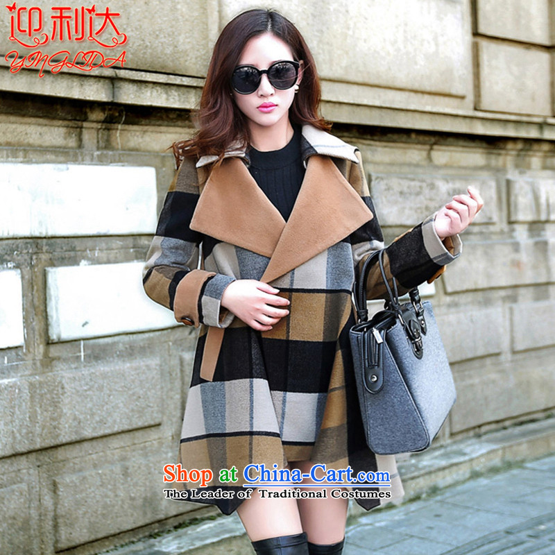 Welcome the 2015 Winter new stylish graphics in Sau San thin Long Hoodie jacket female pictures gross? colorL