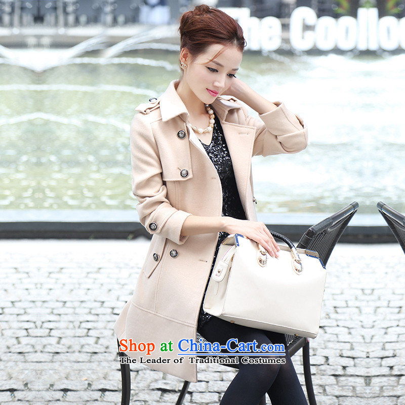 Park woke up to 2015 winter clothing new products new Korean women's long sleeve over the medium to longer term? coats, wool coat m White M?