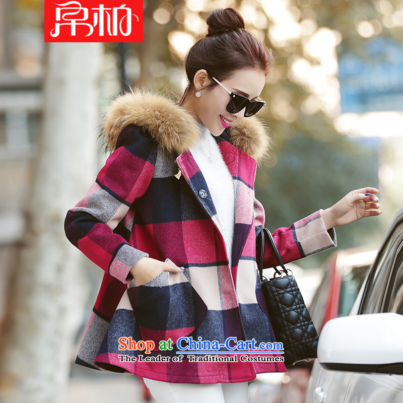 8Pak 2015 Fall_Winter Collections new Korean Sau San double-side-small wind jacket in loose hair?_? a wool coat color pictures of the girl?M
