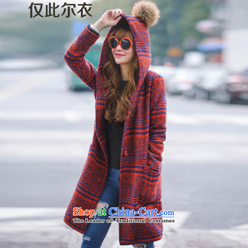 Only this autumn and winter clothing, 2015 on new women's medium to long term, latticed wool a wool coat Korean leisure is a gross female red jacket? XL