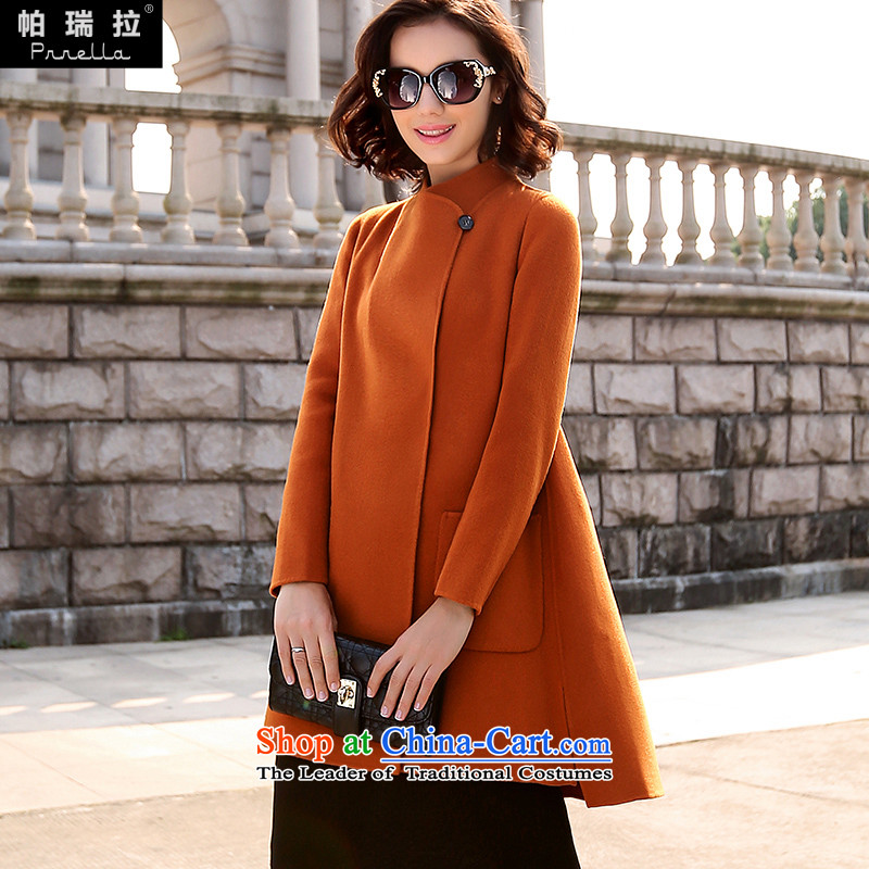 Palau Venezuela 2015 autumn and winter in new long double-sided Pure wool coat Australian female high-end gross? a wool coat female jacket brown andM