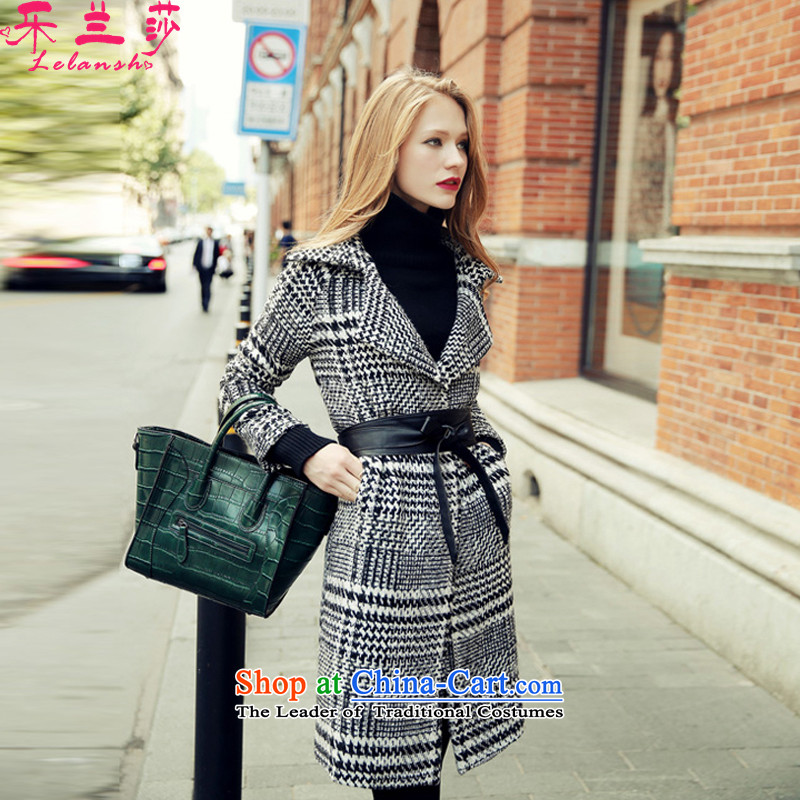 Alam Shah of gross girls jacket? Long 2015 Fall_Winter Collections of the new Korean chidori of wool a wool coat picture color燤