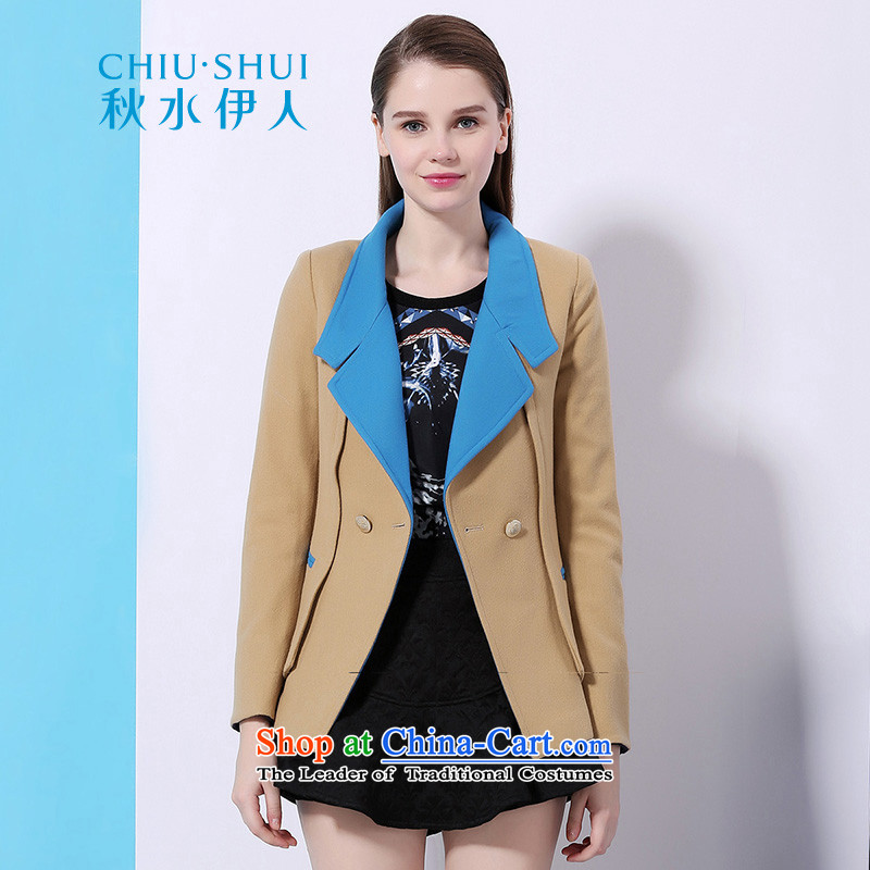 Chaplain who Winter Female stylish stitching knocked colors to suit-jacket comfortable clothes? jacket brown beige gross?155_80A_S