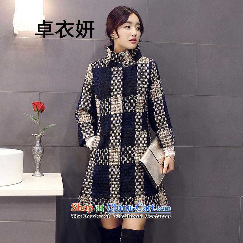 The new winter 1429_2015 Female 7 Cuff Sau San Box long coats jacket picture color燲XXL