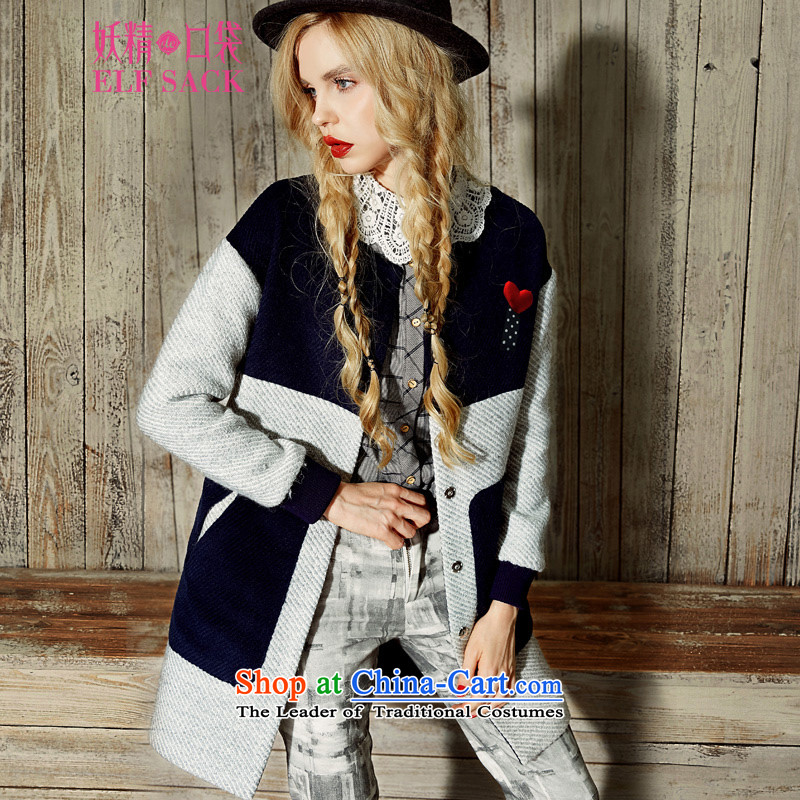 The pockets of witch juvenile wind with�15 new Winter Female BF wind knocked color graphics thin hair so sweet coats燩B1542999爏tudents Blue燤